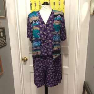 Vintage Two Piece Rayon Set by Bentley